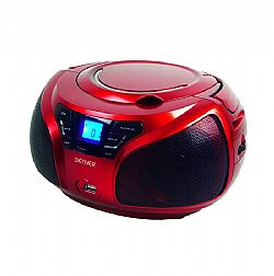 ΡΑΔΙΟ CD μέ MP3 player DENVER TCU-206 RED